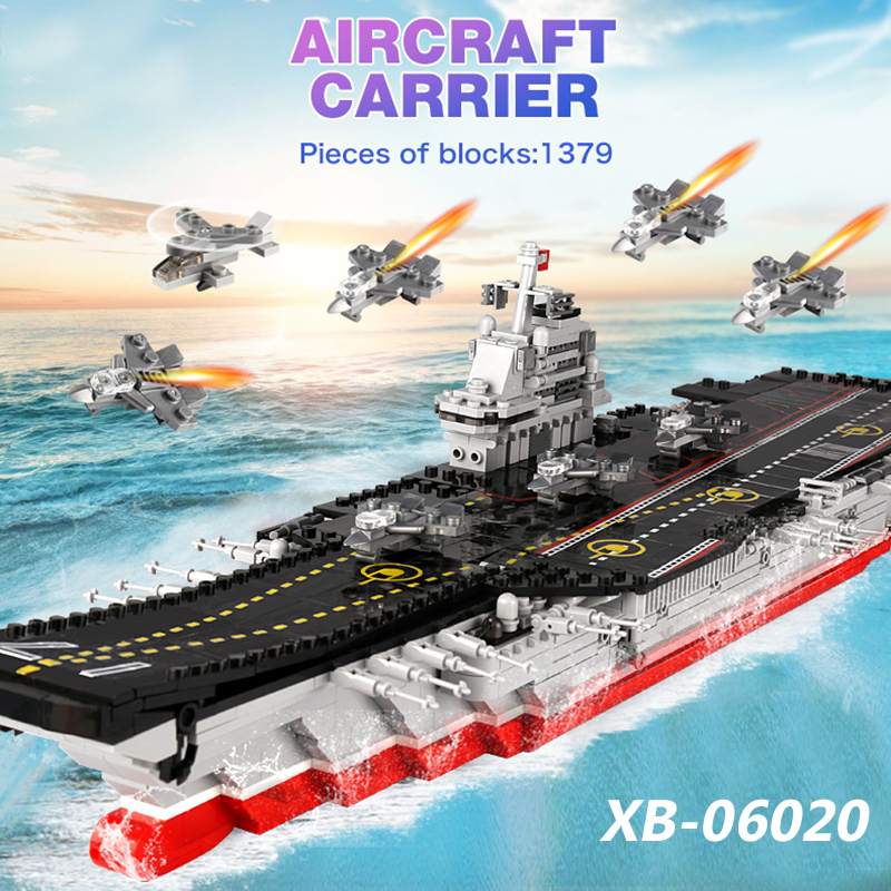 XINGBAO 06020 1355PCS Military Series The Aircraft Ship Building Blocks Bricks Educational Toys Compatible LegoINGlys Military цена