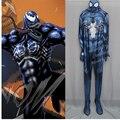 Hero catcher alta calidad por encargo más nuevo veneno venom spiderman zentai traje de spandex traje negro 3d traje