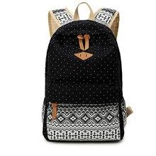 Холст печати рюкзак женский дорожный Повседневное рюкзак женский ноутбук Bagpack студент книжный рюкзак Школьный Сумка для девочек-подростков Mochila