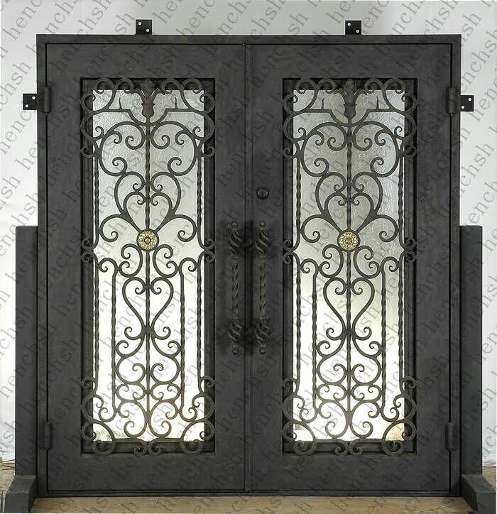 Custom Design 74 X 98 Wrought Iron Entry Double Doors Oct9 In