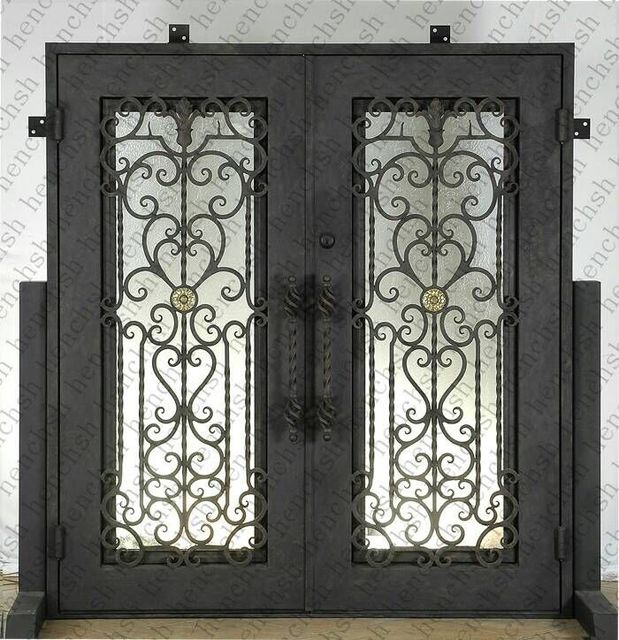 Comprar custom design 74 x 98 hierro forjado puertas dobles de entrada oct9 - Several artistic concepts for main door ...