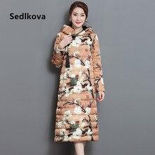 Sedlkova Down Jacket Parka Coat/Autumn Spring Women Vintage Chinses Cheongsam X-Long Down Parka/Clothing Hoodie Warm Coat Jacket