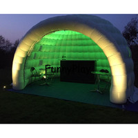 inflatable igloo tent shelter for yard sale,Large Inflatable Party Tents,pop up led lighting outdoor inflatable dome tent