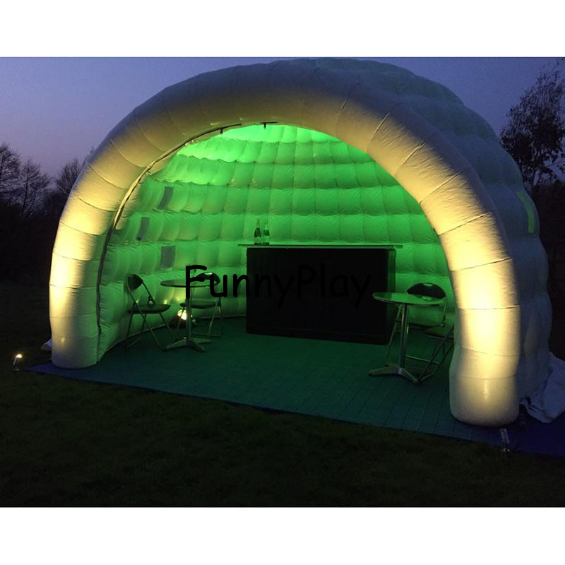 цена на inflatable igloo tent shelter for yard sale,Large Inflatable Party Tents,pop up led lighting outdoor inflatable dome tent