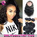 Pre Plucked 360 Lace Frontal With Bundle 8A Grade Body Wave 360 frontal with bundles Brazilian Virgin Hair With Frontal Closure