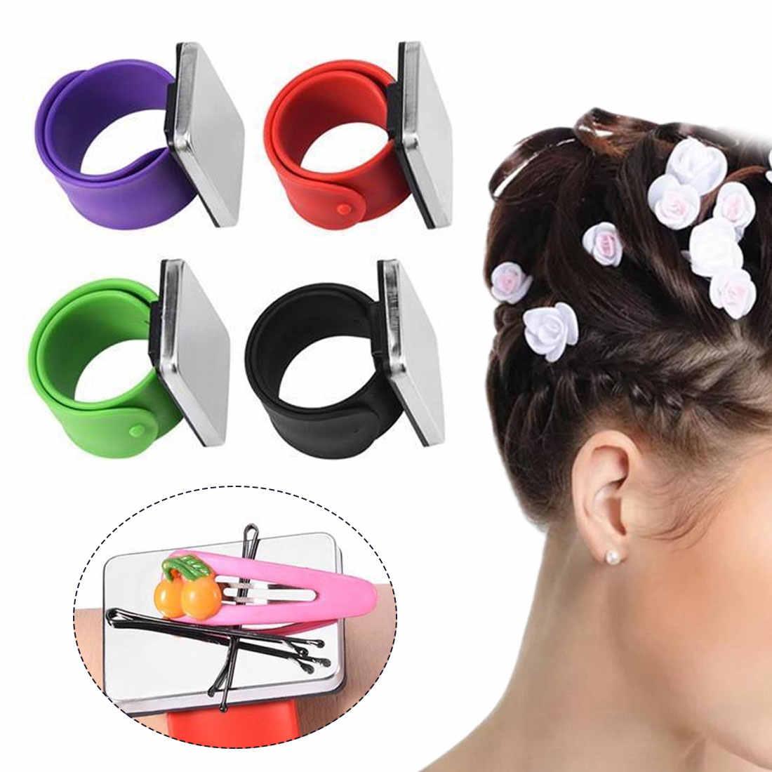 Coiffure аксессуары Магнитный браслет на запястье парикмахерские инструменты для укладки ремень зажим для волос аксессуары заколка для волос