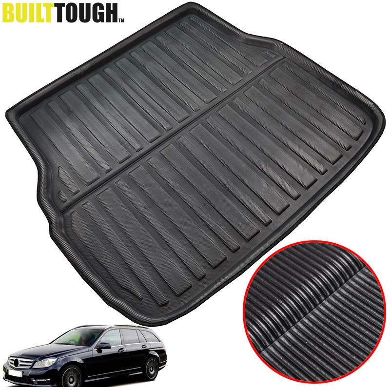 For Mercedes BENZ C-Class W204 W205 S205 S204 Estate Wagon 2008-2018 Rear Cargo Boot Tray Liner Trunk Floor Mat Carpet Mud Kick