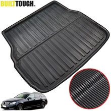 For Mercedes BENZ C Class W204 W205 S205 S204 Estate Wagon 2008 2018 Rear Cargo Boot Tray Liner Trunk Floor Mat Carpet Mud Kick