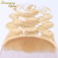 7A 613 Blonde Lace frontal Ear To Ear Lace Frontal Free Part  #613 Malaysia Body Wave Frontal Closure 13*4 With Fast Shipping