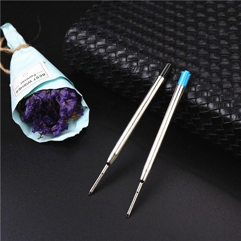5PCS Or 1PCS Metal Roller Pen Refills 0.7mm Black And Blue Good Quality Ballpoint Pen Refill