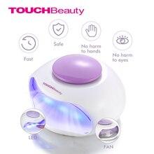 TOUCHBeauty przenośna suszarka do paznokci z powietrzem i oświetleniem LED dobra do regularnych lakierów do paznokci AS 0889