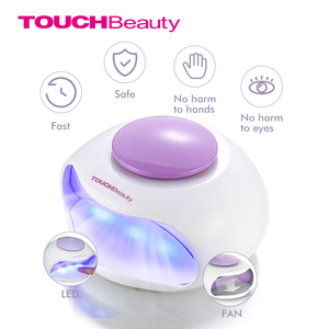 Image 1 - TOUCHBeauty sèche ongles Portable avec Air et lumière LED, bon pour le vernis régulier comme 0889