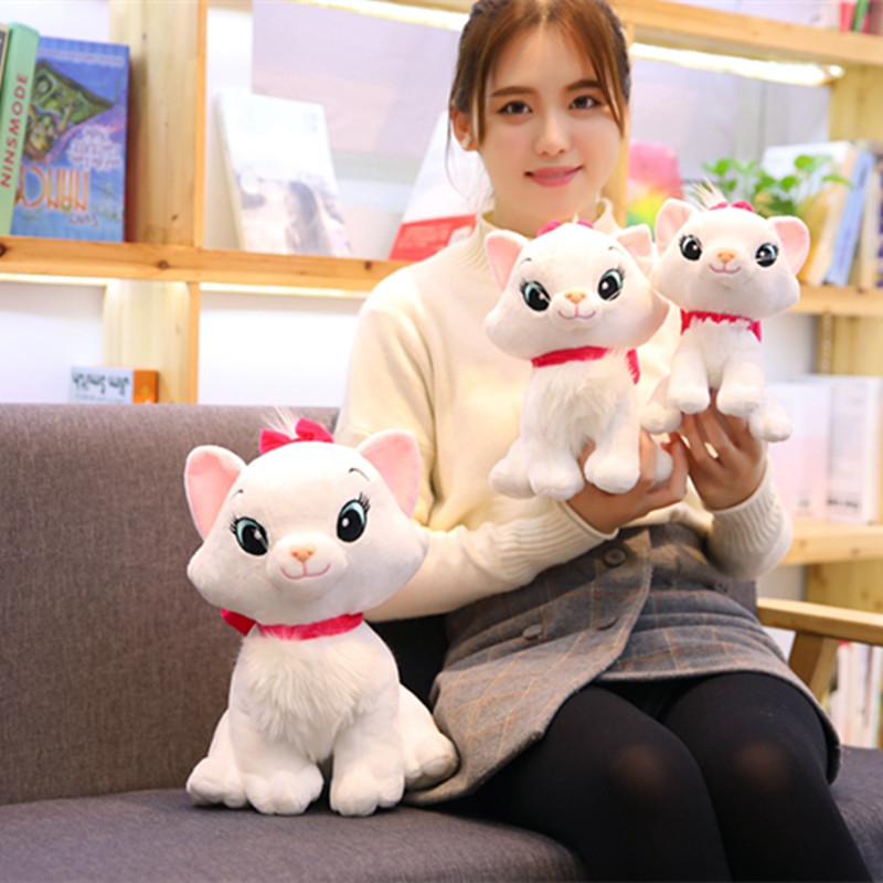 New Arrive 20-35cm Cute Aristocats Cat Plush Toys Marie Cat Plush Dolls Soft Stuffed Animals Toys For Children