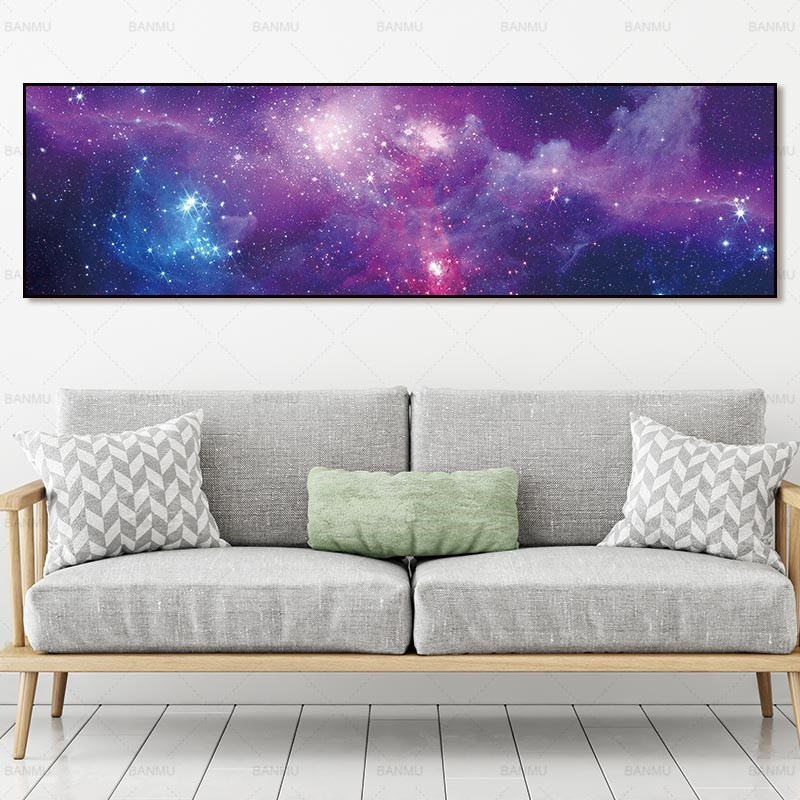 canvas painting landcape art wall picture print Starry sky and posters picture wall art Painting decoration for living room