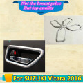 High Quality car styling cover protect detector sticks trims ABS chrome door inner built handle bowl 4pcs for SUZUK1 Vitara 2016