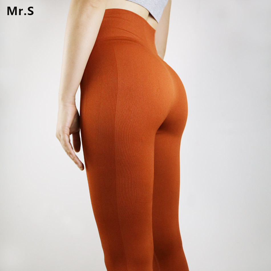 Stretch Leggins Sport Women Fitness Flex Cropped Gym Leggings High Waist Seamless Yoga Pants Calf-Length Pants Workout Tights