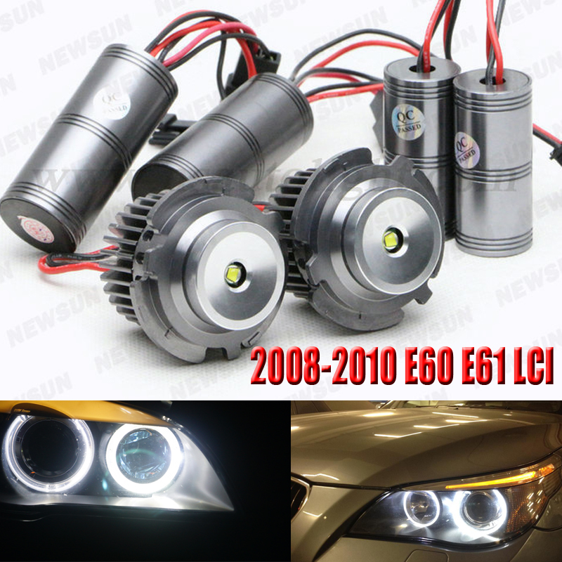 2pcs 1600LM high brightness cree chips 10W led angel eyes E60 E61 led marker light for BMW 5 series 528i 535i LCI canbus free