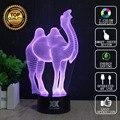 HUI YUAN Marca USB 3D ilusão Visual Da Lâmpada Luz Da Noite Da Novidade Animal Coruja Brilhantes Luzes Do Feriado Presente de Natal Das Crianças