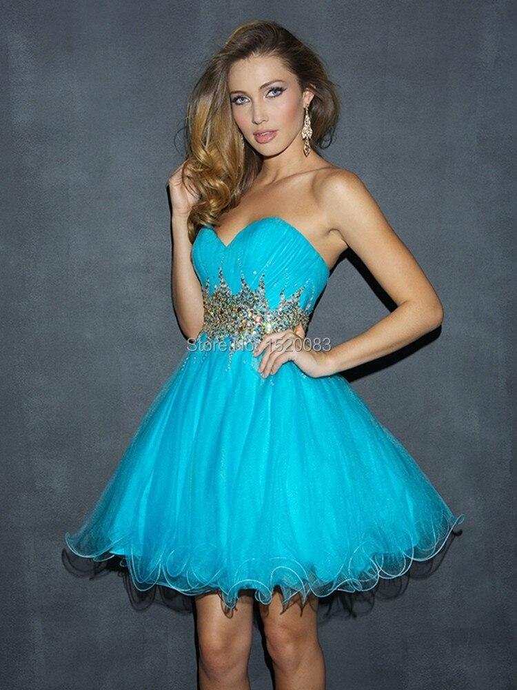 Popular Short Light Blue Cocktail Dresses for Party Dress-Buy ...
