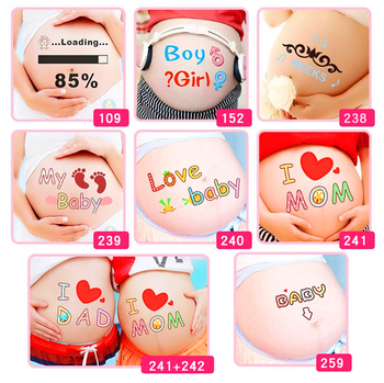 For pregnant women therapy Free shipping maternity photo props Pregnancy photographs belly painting stickers - discount item  15% OFF Stationery Sticker