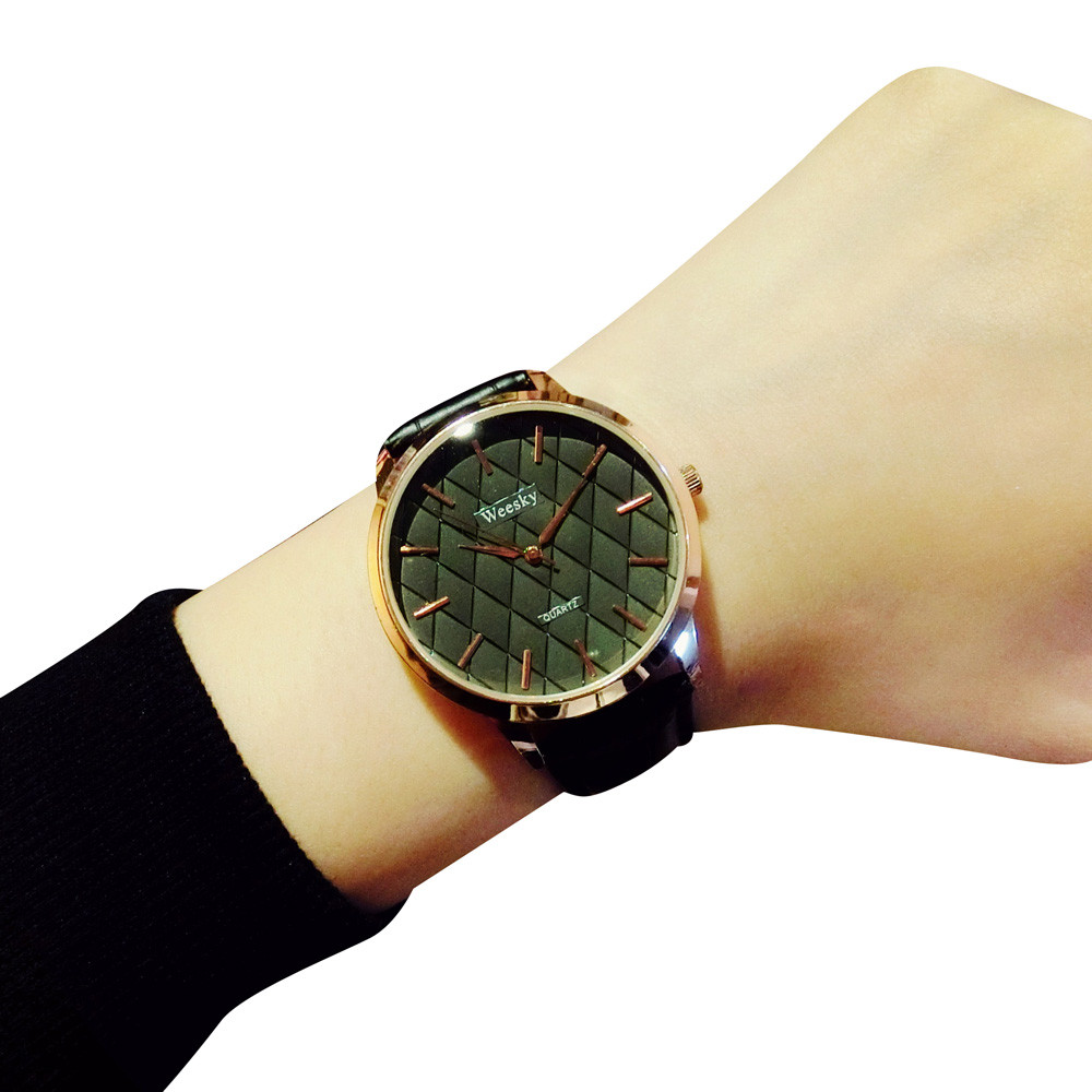 Permalink to 2016 Luxury Quartz Watch Casual Fashion Leather Watches Men Women Couple Watch Sports Wristwatch Lover's watch Free Shipping