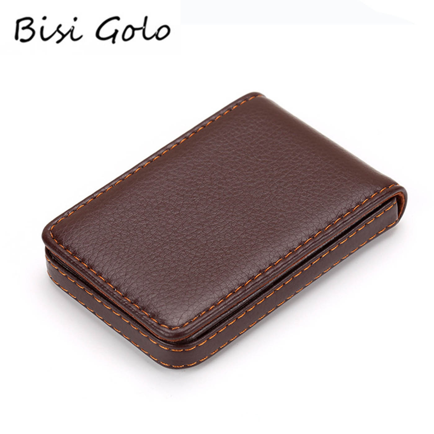 BISI GORO 2020 New Arrival Business Card Holder PU Leather Vintage Credit Card Wallets RFID Blocking Waterproof Card Holders