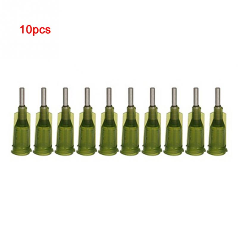 10Pcs 14Ga Dispensing Syringe Needle Tips Flux Soldering Paste Solder Paste Flux For Soldering Fluxo De Soldagem Accessory Tools