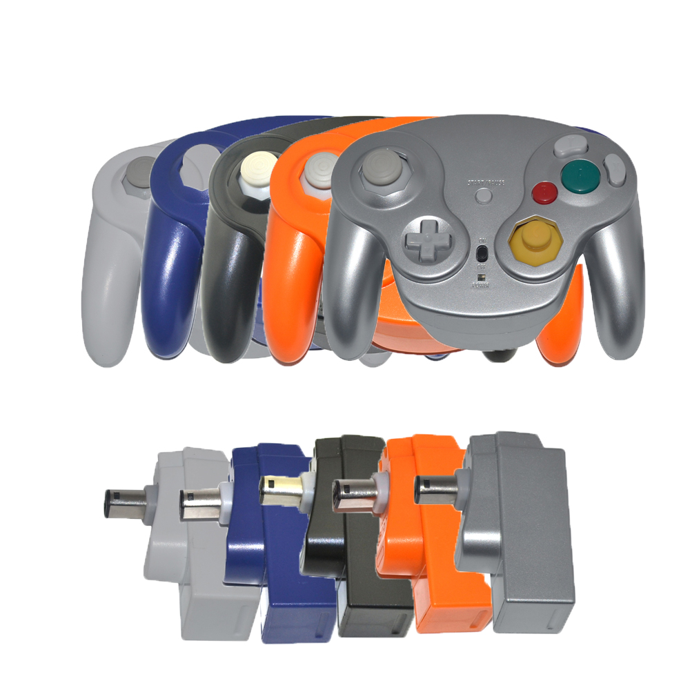2 4GHz Wireless Bluetooth Gamepad Controller Gamepad joystick with receiver for N-G-C for GameCube for wii
