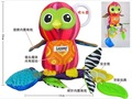 Hot sale super cute -multi function lovely owl rattle baby carriage bed hanging soothing plush toys 1pc