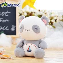 25cm Plush Panda Sweet Lovely Stuffed Baby Kids Toys for Girls Children Birthday Christmas Gift 7.5 Inch Metoo Doll(China)