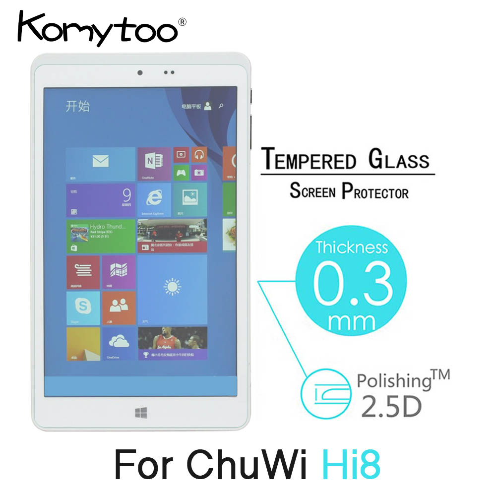 """Tablet Tempered Glass Screen Protector Cover For CHUWI Hi8 Pro 8.0/"""""""