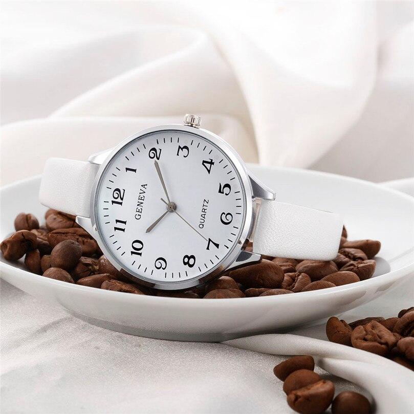 Watches Women Men Elegant Clock Fashion Analog Quartz Watch PU Leather Unisex Wrist Dress Watches Relogio Masculino