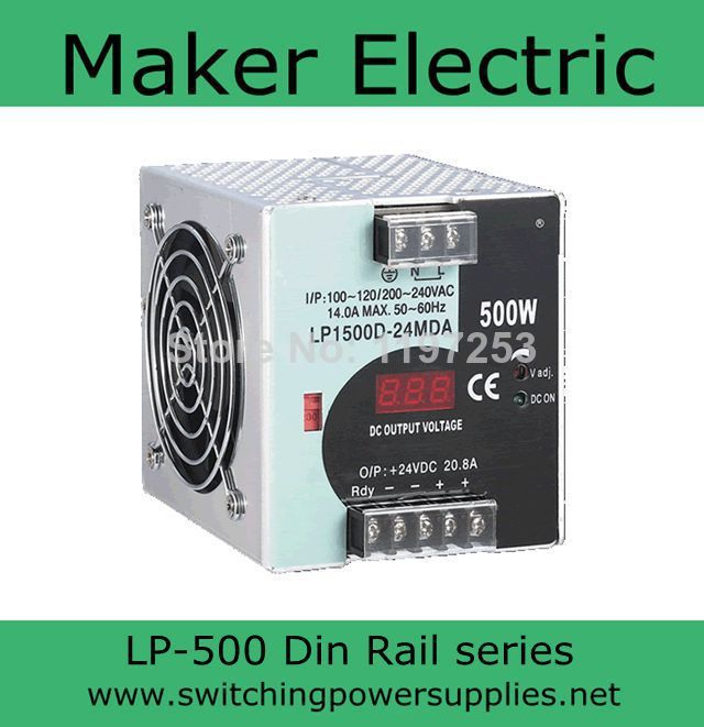 quick delivery high reliable din rail power switching 12V 500W LP 500 12