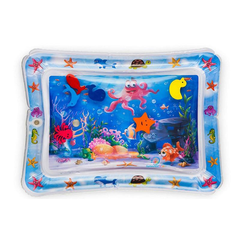 Baby Toddler Inflatable Play Mats Toys Foldable Cartoon Kids Water Play Mat Inflatable Thicken PVC Infant Gym Play Mat Toys