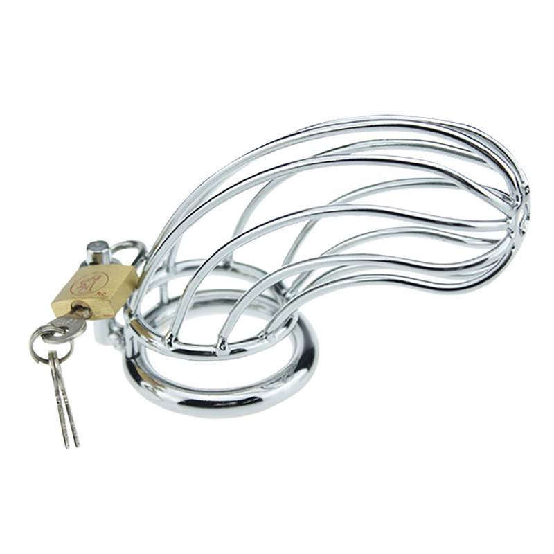 Male Chastity Devices Stainless Steel Cock Cage For Men Metal Chastity Belt Penis Sex Toys Cock Lock Bondage Adult Products