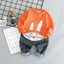 2019 Cotton autumn active casual cartoon kid suit children set baby clothing boy girl clothes G026