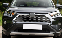 car accessories 2pcs ABS Chromed Car Front Grill Grille Decorative Cover Trim Strips For Toyota RAV4 2019 2020 Car Styling