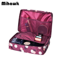 Mihawk Beautician Vanity Necessaire Trip Women Travel Toiletry Wash Bra Underwear Makeup Case Cosmetic Bag Organizer Accessories
