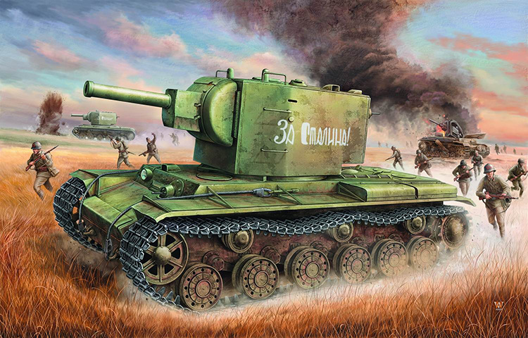 1: 35 World War II Soviet Red Army Kv - 2 Tanks Military Assembly Model Armored Vehicles 003121: 35 World War II Soviet Red Army Kv - 2 Tanks Military Assembly Model Armored Vehicles 00312