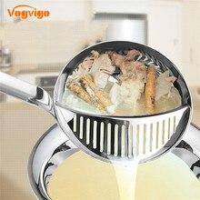 VOGVIGO новые инструменты для приготовления пищи фильтрационная ложка для супа 2 в 1 с длинной ручкой половник-дуршлаг столовая посуда Креативные кухонные аксессуары