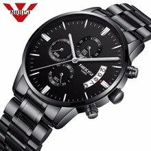 NIBOSI Relogio Masculino גברים שעונים יוקרה מפורסם למעלה מותג גברים של אופנה מזדמן שמלת שעון צבאי קוורץ שעוני יד Saat