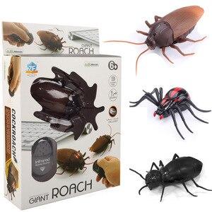 1 шт. RC мини-пульт дистанционного управления, Веселый жук, тараканов, насекомых, робот, инфракрасный флуоресцентный