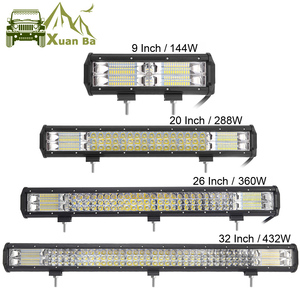 Image 1 - 3 рядсветодиодный светодиодсветильник световая панель для внедорожника, лампа рабосветодиодный освещения для грузовиков, квадроциклов, УАЗ, полноприводных внедорожников, мотоциклов, 9 дюймов, 20 дюймов, 32 дюйма