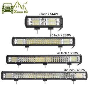 Image 1 - Barra de luces LED de 3 filas para todoterreno, 9, 20, 32 y 32 pulgadas, 4x4, 4WD, Atv, Uaz, 4WD, Suv, conducción, motocicleta, camión, Lámpara de trabajo