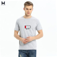 2017 Summer Men Fashion T Shirt Battery Printing 100 Cotton Europe And The United States Brand