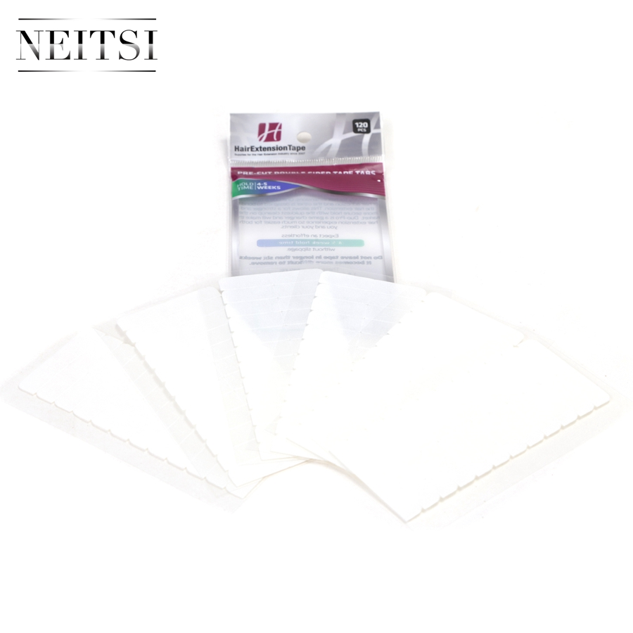 Image 2 - Neitsi 120 Tabs Lace Front/DUO PRO/Ultra Hold Pre cut Double Sided Tape USA Walker Tape For Tape in Hair ExtensionsAdhesives   -