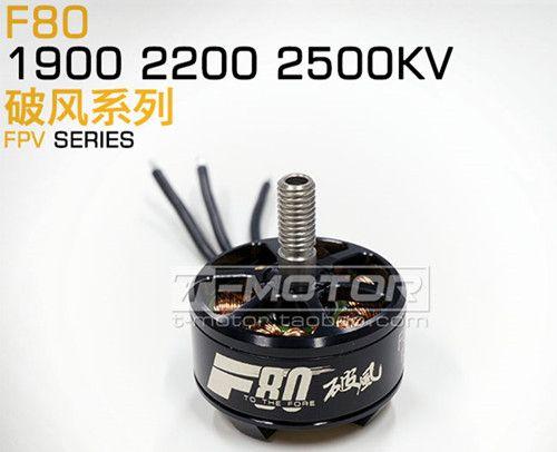 T-Motor F80 2408 1900KV Brushless Motor 2-6S For 220 250 FPV Racing Frame