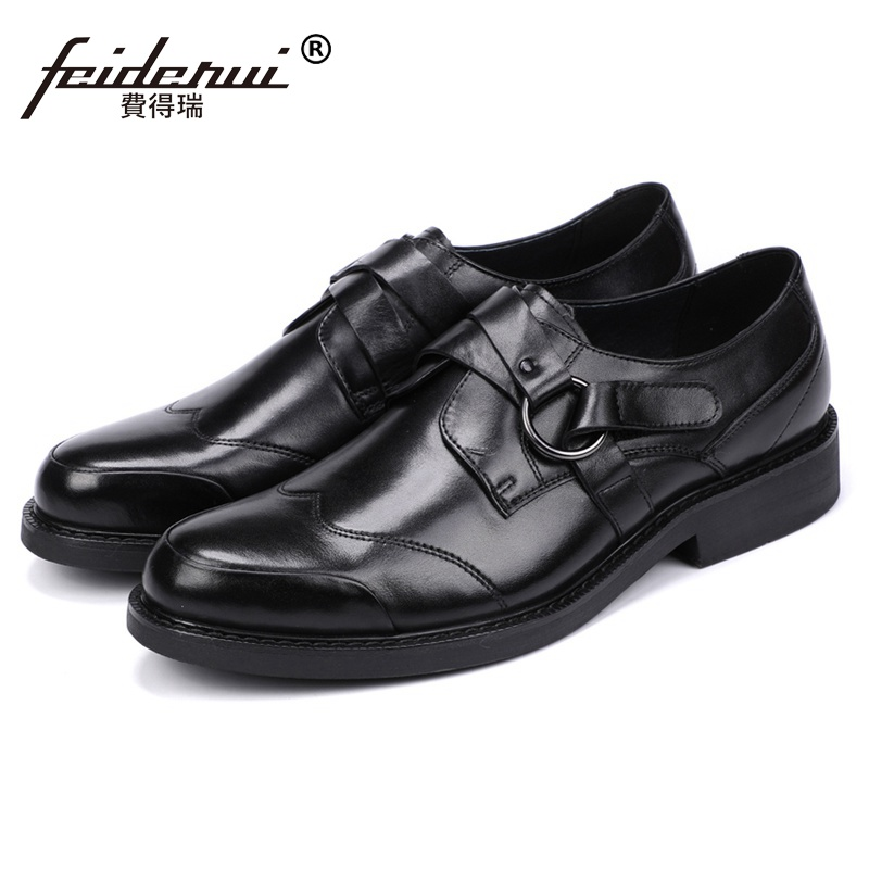 Stylish Man Handmade Comfortable Office Shoes Genuine Leather Round Toe Hook Loop Mens Formal Dress Platform Footwear JS143Stylish Man Handmade Comfortable Office Shoes Genuine Leather Round Toe Hook Loop Mens Formal Dress Platform Footwear JS143