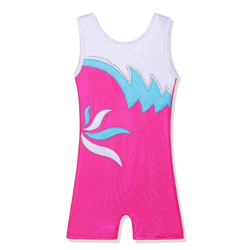 BAOHULU SHINY Diamond Leotards สำหรับสาวกรีฑายิมนาสติก Biketard One ชิ้น Ballet Leotard Dance เสื้อผ้า