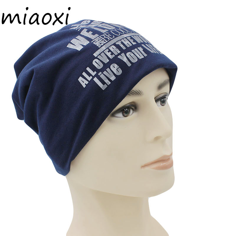 miaoxi New Fashion Knitted Women Hats Warm Winter Thick Caps Girl Letter   Skullies     Beanies   Male Unisex Adult Gorro Black Hat